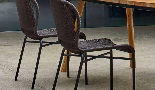 Varaschin hochwertiger outdoor stühle handgeflechtet 2 teile