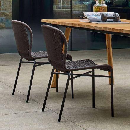 Hochwertiger Outdoor Stühle handgeflechtet 2 Teile Varaschin