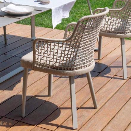 Moderner Outdoor-Sessel aus Stoff und Aluminium Varaschin Emma