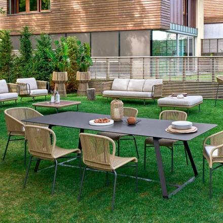 Moderner Gartentisch in unterschiedlichen Dimensionen Varaschin Kolonaki