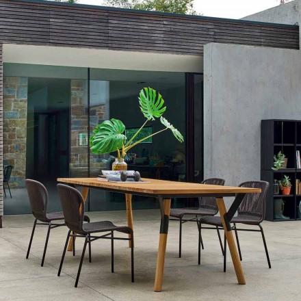 Esstisch Tischbeine aus Teak H 65 cm Varaschin Link