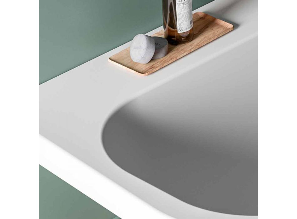 Glänzende / undurchsichtige zweifarbige Badewanne, freistehend modern - Margex
