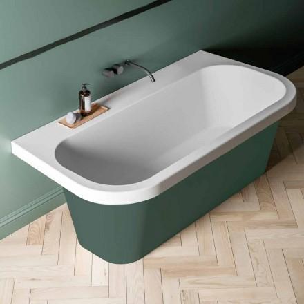 zweifarbige Badewanne glänzend/matt, Free Standing modern - Margex