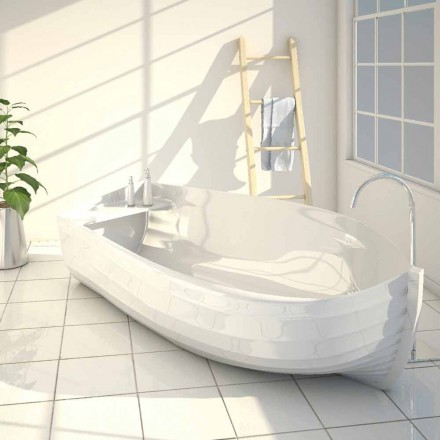 Design Badewanne Made in Italy in Schiffsform Ocean