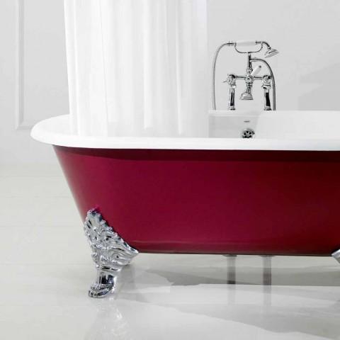 Freistehende Badewanne mit gusseisernen Beinen Halle