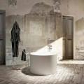 Design freistehende Rundbadewanne in Italien hergestellt Cremona