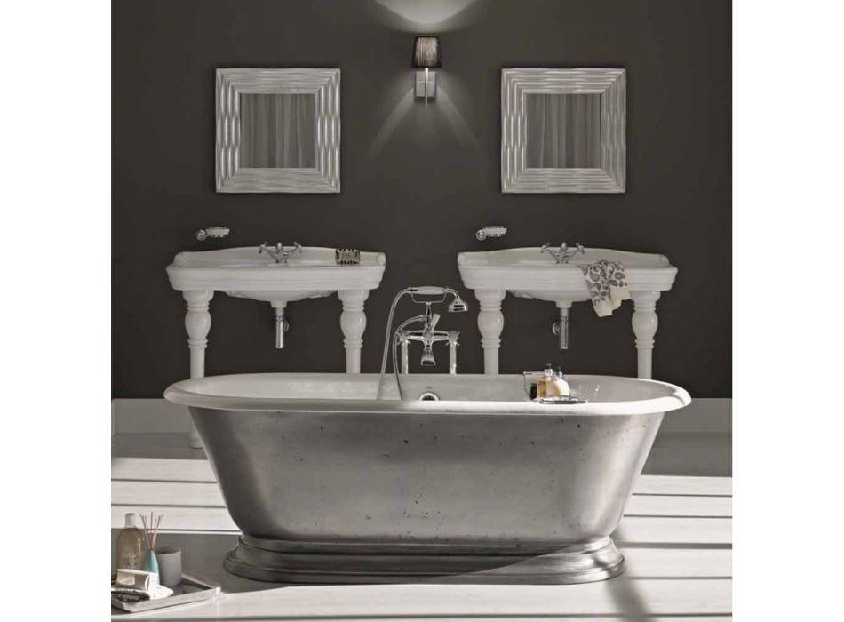 Badewanne in Designer-Bad mit Gusseisen Pierce Glanz