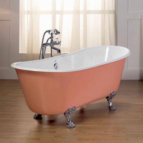 Badewanne aus Gusseisen mit Melissa Füßen
