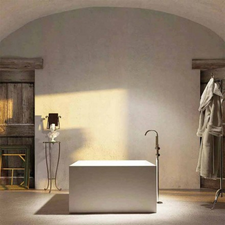 Design quadratische Badewanne freestanding Argentera, made in Italy