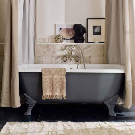 Vintage freistehende Badewanne mit Füßen, aus Gusseisen - Nausica