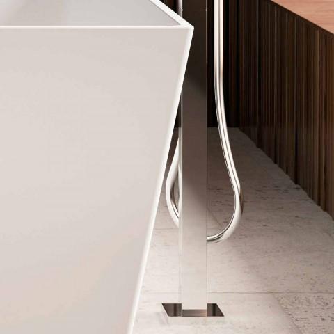 Freistehende Badewanne, glänzend / mattweiß, mit zwei Größen - Draht