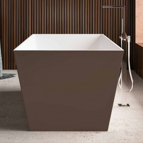 Freistehende Badewanne, zweifarbig glänzendes Äußeres oder Matt - Filo