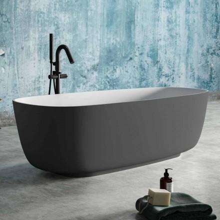 Free Standing Badewanne zweifarbig grau, aus Solid Surface - Canossa