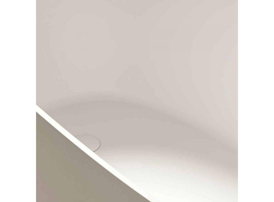 Freistehende Badewanne, Design Solid Surface Glossy / Matte - Veil