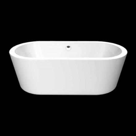 Nicole Kleine weiße Acryl freistehende Badewanne 1675x777 mm