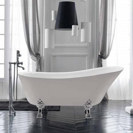 Weiße 1700x720 mm freistehende Badewanne aus weißem Acryl