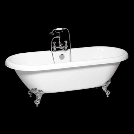 Moderne weiße Acryl freistehende Badewanne Sunshine 1774x805 mm