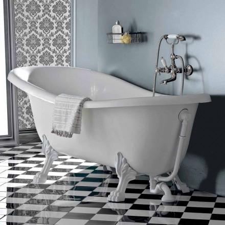 Freistehende Badewanne aus Acryl im Vintage-Stil, hergestellt in Italien - Tabea