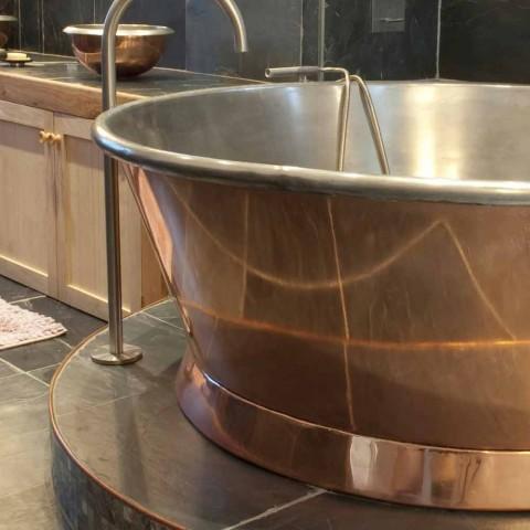 Heiße Runde freistehende Kupfer, plattiert Vanessa White Iron