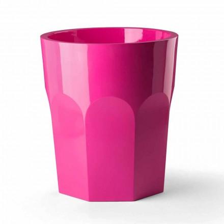 Hohe dekorative Vase mit Glasform aus Polyethylen Made in Italy - Pucca
