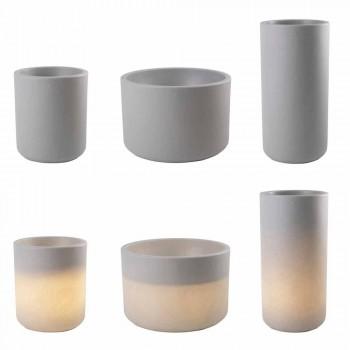 Vase mit Gartenbeleuchtung oder Wohnzimmer farbiges modernes Design - Cilindrostar