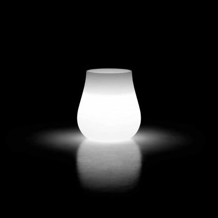 Leuchtende Vase für Outdoor-Design Drop in Polyethylen Made in Italy - Monita
