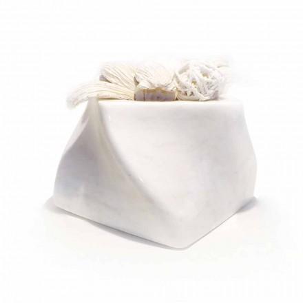 Dekorative Design Vase aus Bardiglio oder Carrara Marmor Made in Italy - Prisma