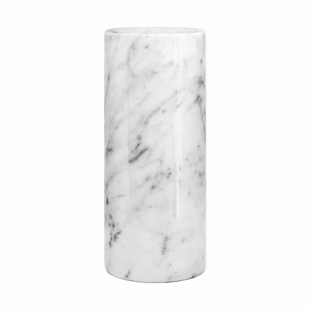 Weiße Carrara Marmor dekorative Vase Made in Italy Design - Nevea
