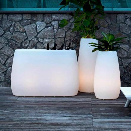 Pflanzgefäßvase aus leuchtendem Kunststoff, Design in 3 Größen, 2 Stück - Pandora von Myyour