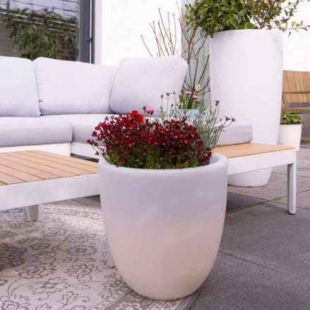 Design Beleuchtete Außen- und Innenvase aus farbigem Polyethylen - Svasostar