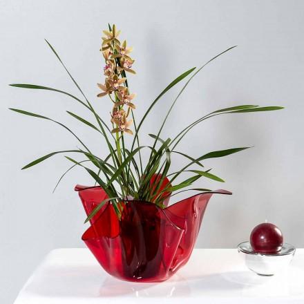 Pina rot Indoor / Outdoor Mehrzweck-Vase, modernes Design in Italien hergestellt