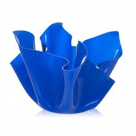 Mehrzweck-Topf für den Außenbereich / Innenbereich Pina blau, modernes Design, hergestellt in Italien