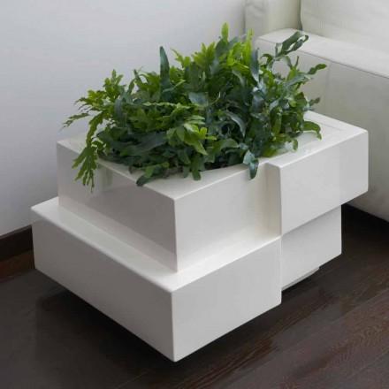 Dekorativer Vase für draußen / innen auf Rädern Slide Cubic Yo, hergestellt in Italien