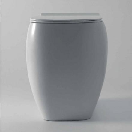 Weiße Keramik-Toilettenvase Gais in modernem Design, hergestellt in Italien