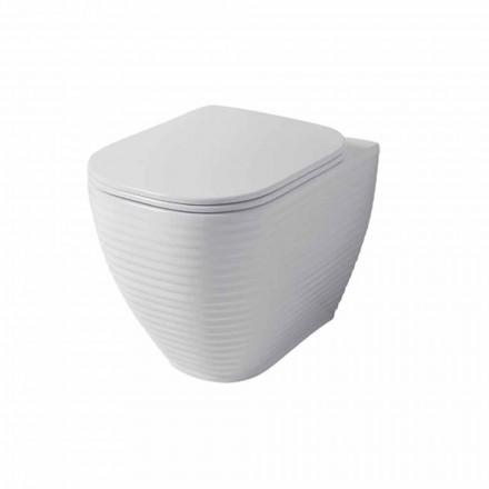 Design Toilettenvase aus weißer oder farbiger Keramik Trabia