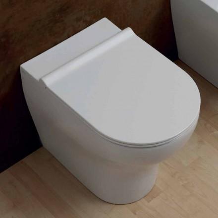 Toilettenschüssel aus weißer Keramik 54x35 Star modernes Design, Italy