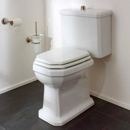 Weißes Keramik-Toilettenglas mit Kassette, Made in Italy - Nausica
