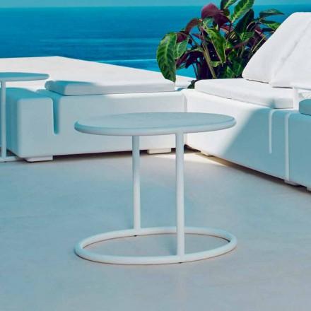 Vondom Kes runder Gartentisch aus Stahl, modernes Design