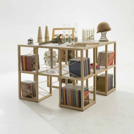 Bücherregal modular in modernem Design Zia Babele I Castelli 7