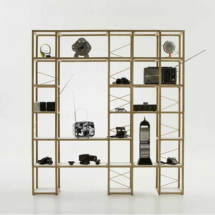 Bücherregal modular in modernem Design Zia Babele I Castelli 12