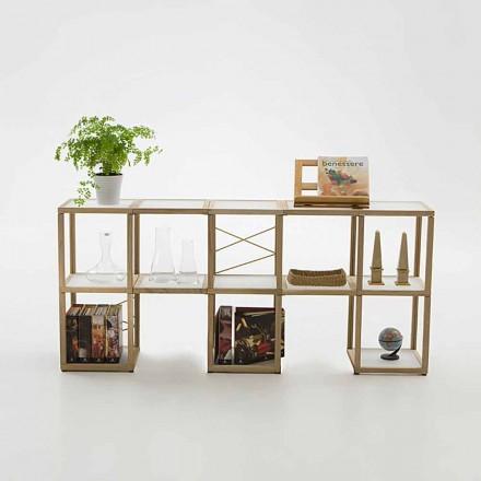 Bücherregal modular in modernem Design Zia Babele I Castelli 1